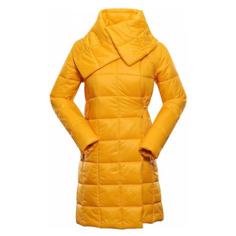 ALPINE PRO IKMA Dámský ultralehký zimní kabát LCTS132231 radiant yellow