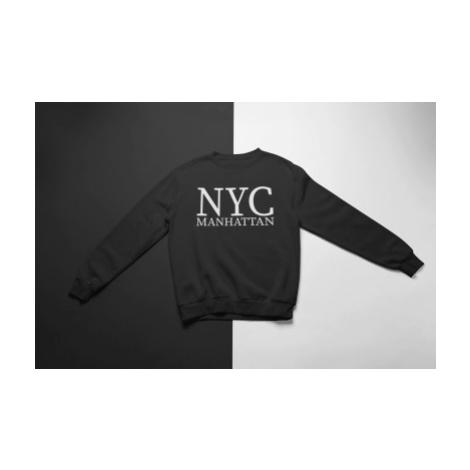 KIDSBEE Super klučičí tepláková mikina Nyc Manhattan - černá, vel.