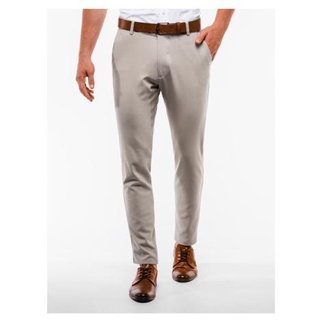 Pánské chinos kalhoty Winston béžové Ombre Clothing