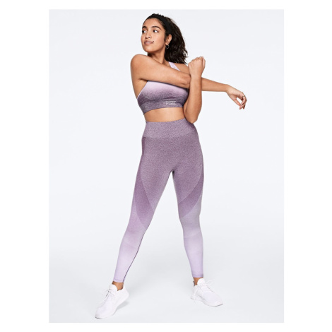 Victorias Secret PINK fialové bezešvé legíny Seamless Workout Tight Victoria's Secret