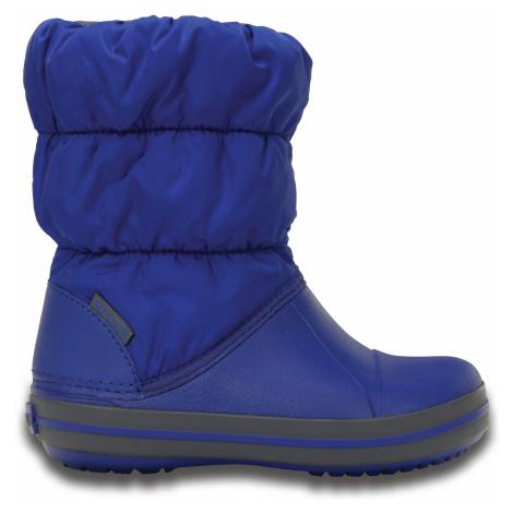 Crocs Winter Puff Boot Kids - Cerulean Blue/Light Grey C8