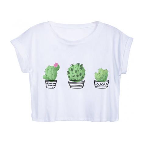 Dámské tričko Organic Crop Top Kaktusy