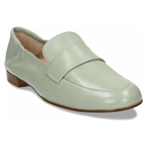 Dámská kožená světle zelená loafers obuv Högl