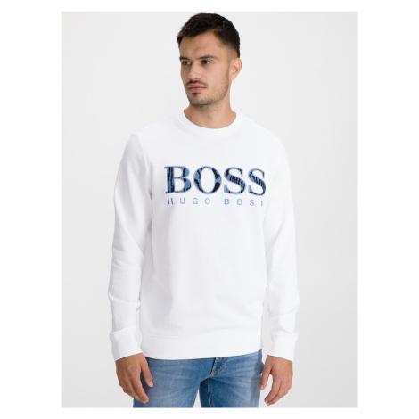 Mikina BOSS Bílá Hugo Boss