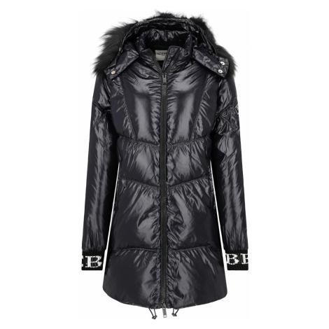 Černý péřový kabát ICEBERG
