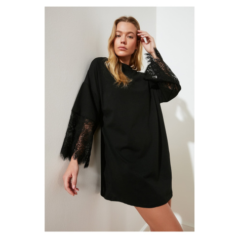 Trendyol Black Lace Knitted Dress