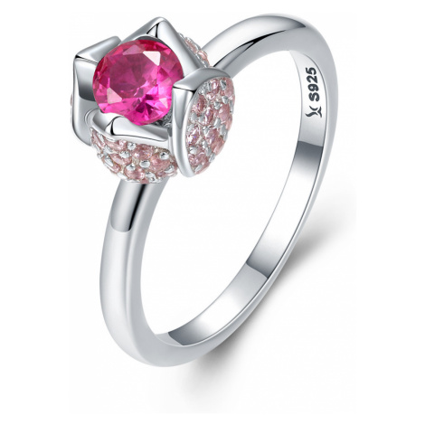 OLIVIE Stříbrný prsten RŮŽIČKA 2960