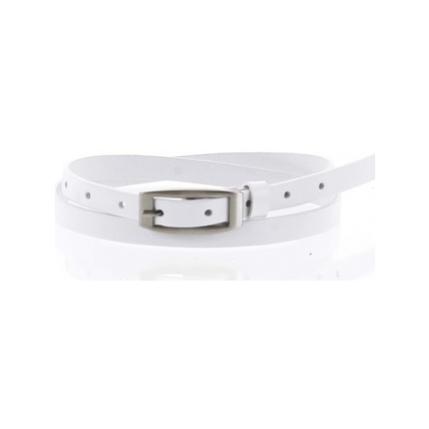 Penny Belts Dámský kožený opasek bílý - PB Neba 90 Bílá