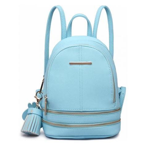 Tyrkysový dámský stylový moderní batoh Misie Lulu Bags