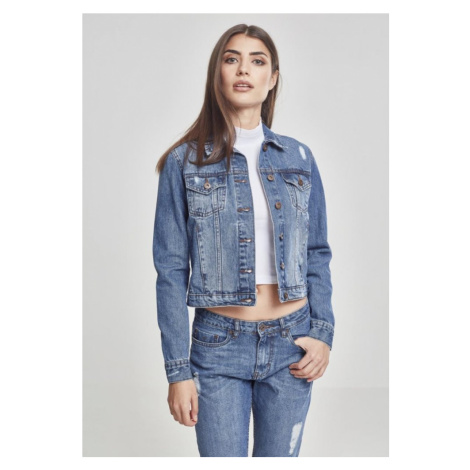 Ladies Denim Jacket - ocean blue Urban Classics