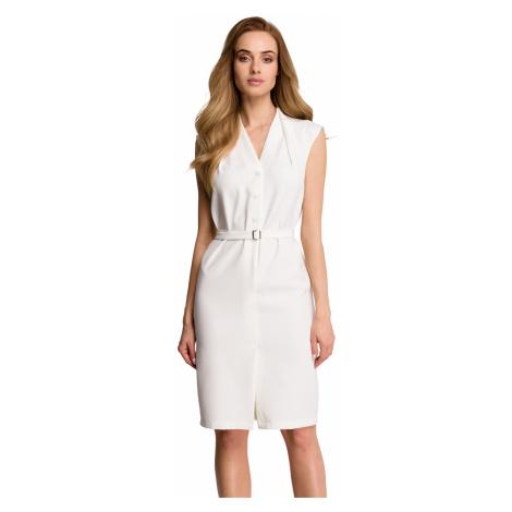 Smetanové šaty S102