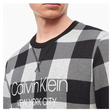 Černo-šedá mikina Lounge Sweatshirt Modern Cotton Calvin Klein