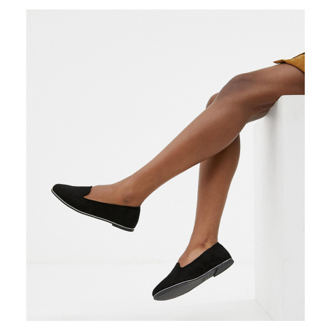 New Look Wide Fit slip on shoe-Black