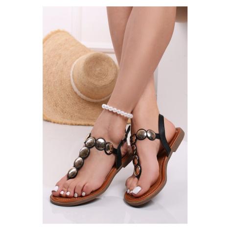 Černé nízké sandály Morgan Belle Women