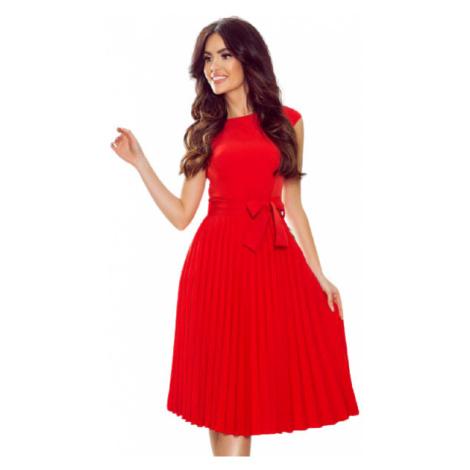 Dámské šaty Numoco 311-1 Lila   červená