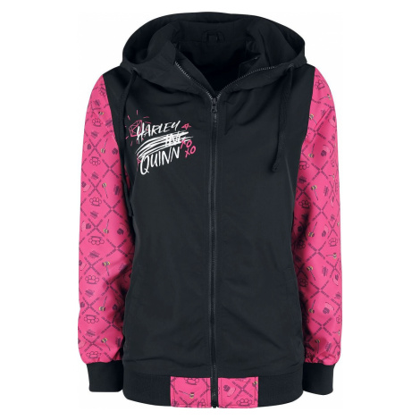 Birds Of Prey Harley Quinn dívcí bunda cerná/bílá/ružová