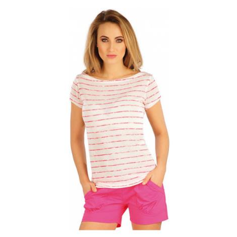 Dámské tričko s krátkým rukávem Litex 5A141 | pruhy