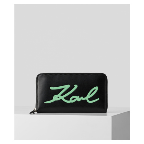 Peněženka Karl Lagerfeld K/Signature Cont Zip Wallet
