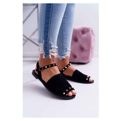 Women's Sandals Lu Boo Black Suede Silena Kesi