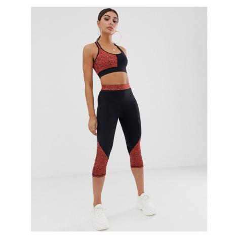 In The Style marl contrast leggings-Multi