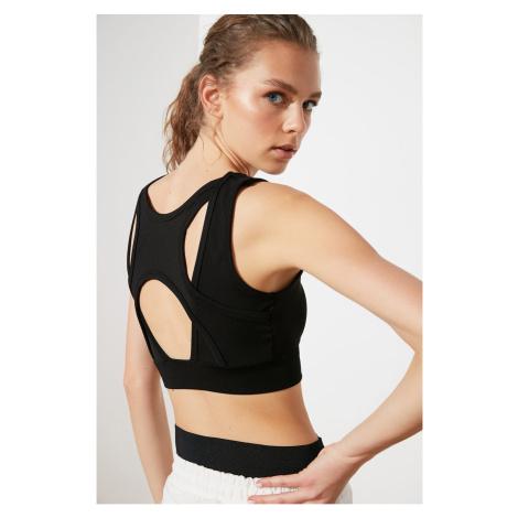 Trendyol Black Backed Back Detailed Sports Bra