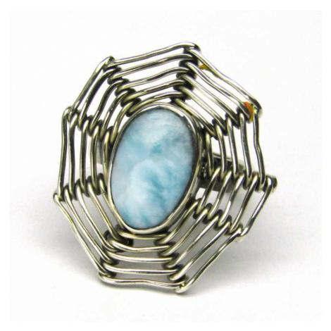 AutorskeSperky.com - Stříbrný prsten s larimarem - S4512