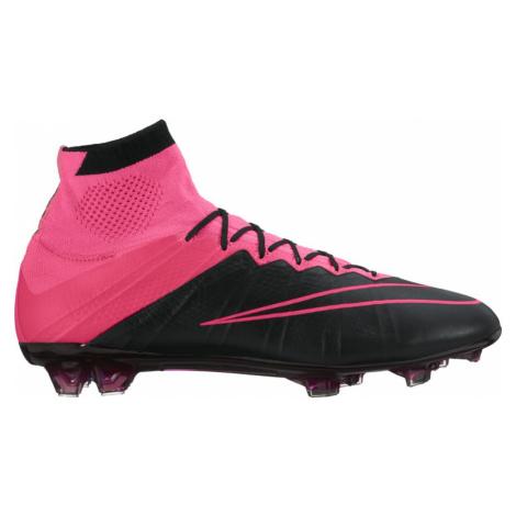 Kopačky Nike Mercurial Superfly Leather FG Černá / Růžová