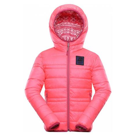 Dětská hi-therm bunda Alpine Pro IDIKO - reflexní růžová
