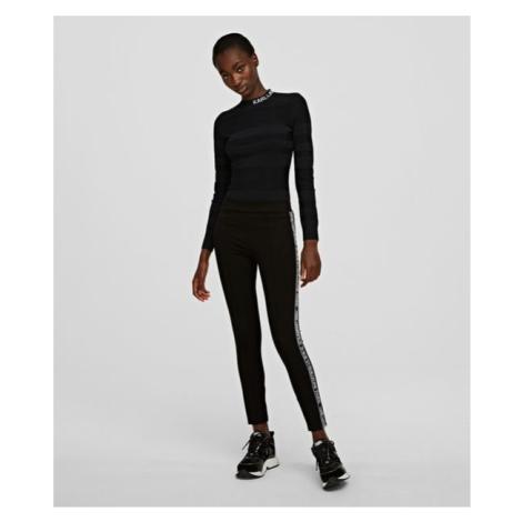 Legíny Karl Lagerfeld Punto Leggings W/ Logo - Černá