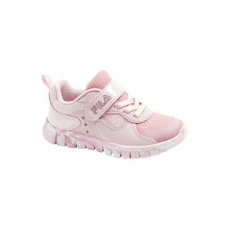 Růžové tenisky na suchý zip Fila