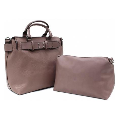 Tmavě růžový dámský elegantní kabelkový set 2v1 Berthe Tapple