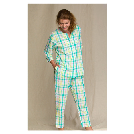 Dámské pyžamo Key LNS 453 2 A21zelená-žlutá