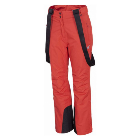 Dámské lyžařské kalhoty H4Z20-SPDN001-62S RED 4F