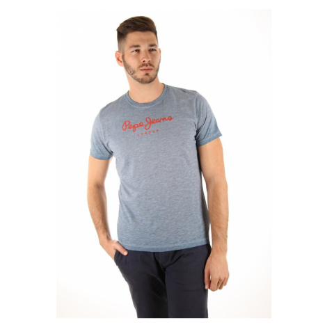 Pepe Jeans pánské modré melírované tričko