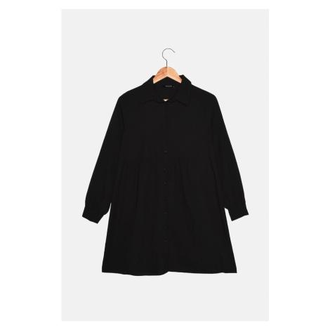 Trendyol Black Petit Wide Cut Shirt Dress
