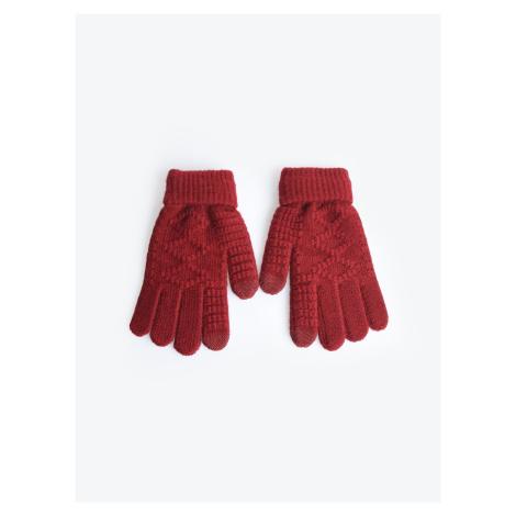GATE Jednoduché pletené rukavice
