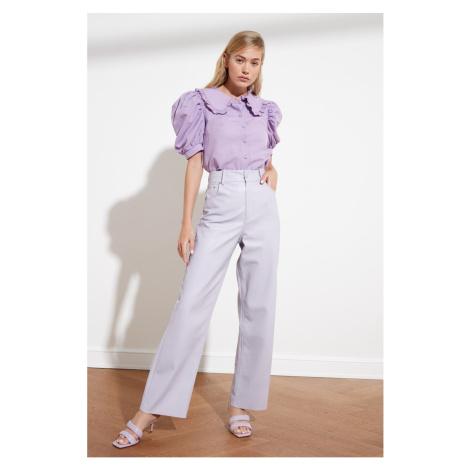Trendyol Lila Balloon Sleeve Shirt