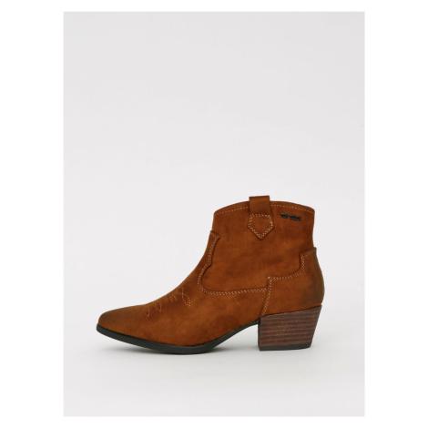 Hnědé dámské kotníkové boty v semišové úpravě Tom Tailor