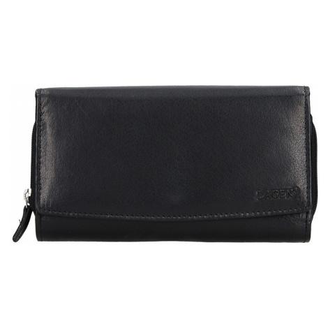 Dámská kožená peněženka Lagen Milena - černá