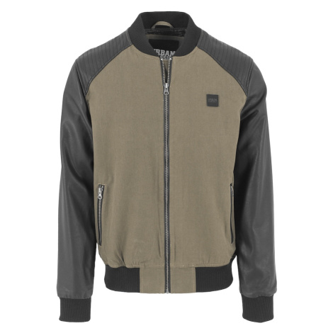 Urban Classics Přechodná bunda černá / khaki