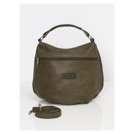 Khaki kabelka vyrobená z ekologické kůže ONE SIZE FPrice