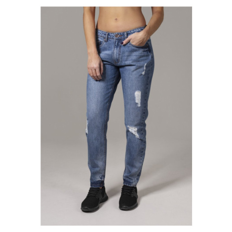 Ladies Boyfriend Denim Pants - ocean blue Urban Classics