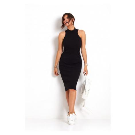 Dámské tužkové midi šaty v černé barvě 273 IVON