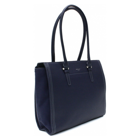 Tmavě modrá velká dámská kabelka do ruky Carine David Jones