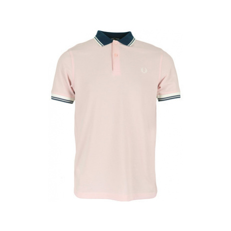 Fred Perry Contrast Rib Polo Shirt Růžová