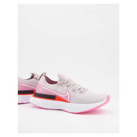 Nike Running React Infinity Run Flyknit trainers in pink