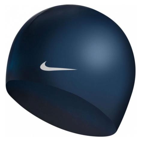 Nike SOLID SILICONE tmavě modrá - Plavecká čepice
