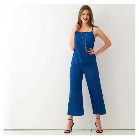 Blancheporte 3/4 kalhoty s plisováním tmavě modrá