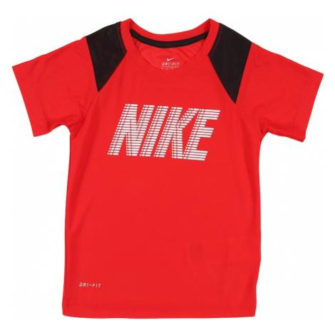 NIKE Funkční tričko červená / černá / bílá