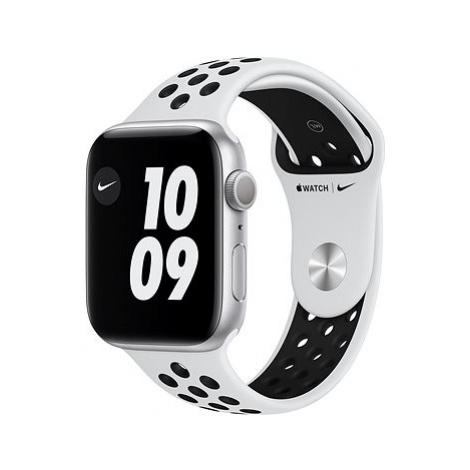 Apple Watch Nike Series 6 40mm Stříbrný hliník s platinovým/černým sportovním řemínkem Nike